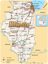 Map Illinois