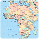 Map african countries