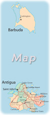 Map Antigua Barbuda