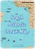 South Atlantic Ocean map