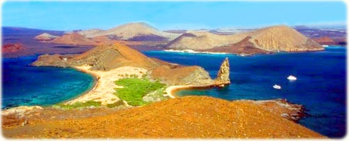 The Bartolome Island, in Galapagos